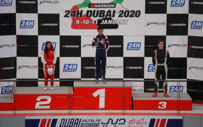 Francesco Pizzi strikes the first round of the F.4 UAE in Dubai