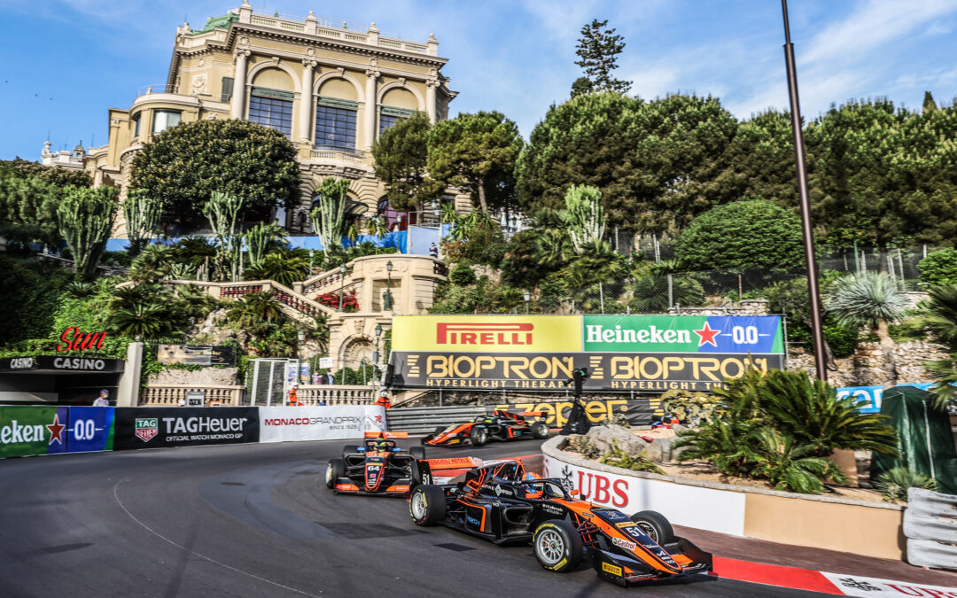 FRANCESCO IMPROVES HIS RESULTS RACE AFTER RACE AND IN MONTECARLO HE CONFIRMS HIS CONFIDENCE AND PRECISION AT THE WHEEL OF HIS SINGLE-SEATER.
